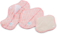 Teby Pink - Damenbinden (Bio-Baumwoll-Velour) - Tag (Midi / Medium) - Ornament