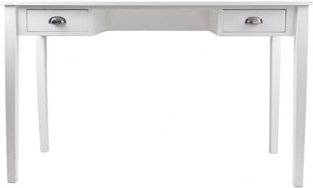 Max skrivbord med 2 lådor - Vit