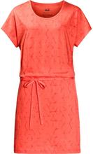 Shibori Dress Hot coral all over XS