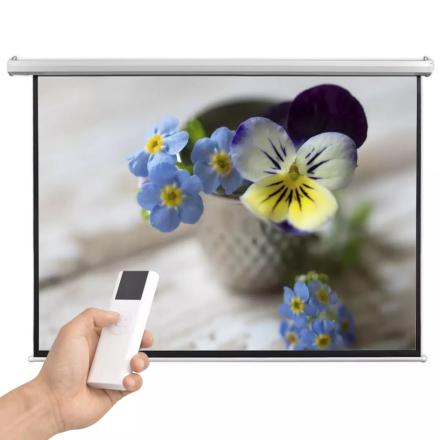 vidaXL Elektrisk projektorskjerm med fjernkontroll 200x153 cm 4:3