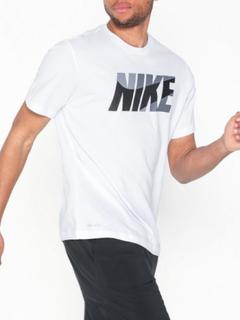 Nike M Nk Dry Tee Dfc Nike Block Trenings-t-skjorter Hvit/Svart
