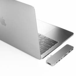HyperDrive PRO 8-i-2 Hub for USB-C MacBook Pro 2016/2017/2018 Sølv farve