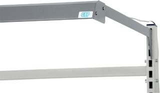 Ledbelysning längsgående i silver 670x640 mm, 18 w