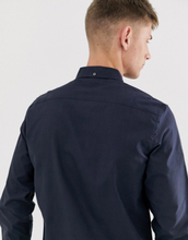French Connection oxford button down logo shirt-Navy