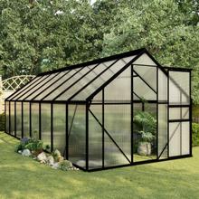 vidaXL drivhus 9,31 m² aluminium antracitgrå