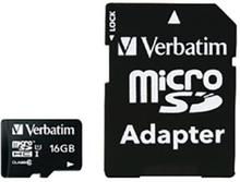 Verbatim microSDHC Class 10 Hukommelseskort m. 16GB & Kamera Adaptor