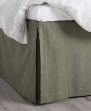 Studio Total Home Sengekappe Heavy Cotton Bedvalance 52 cm Grønn