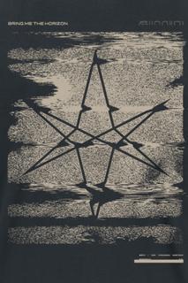 Bring Me The Horizon - Broken Xerox Hexagram -T-skjorte - svart