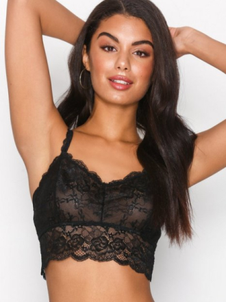NLY Lingerie Lace Covered Bralette Svart