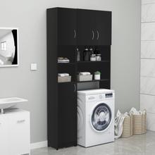Skapsett til vaskemaskin - sort