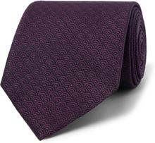 8cm Silk-jacquard Tie - Dark purple
