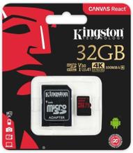Kingston 32G 100R MicroSDHC Hukommelseskort m. 4k-Video