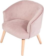 JOX, Furniture Armchair Velvet Dusty Pink