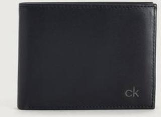 Calvin Klein Lommebok Smooth CK 5cc Coin Svart