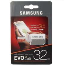Original Samsung microSDHC Card 32GB EVO Plus UHS-1 Inkl. SD Adapter