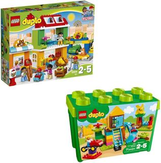 LegoPaket LEGO DUPLO® 10864 Stor lekplatslåda + 10836 Torg Paket