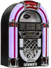 Arizona Jukebox, BT, FM-radio, USB, SD, MP3, CD-player, svart
