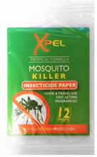 Xpel Mosquito Killer Insecticide Paper 12 stk