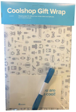 Coolshop Gift Wrap - Blue