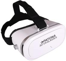 3D VR-lasit älypuhelimelle valkoinen