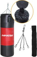Nyrkkeilysäkki 40-80 kg Musta/Punainen