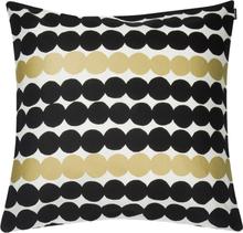 Räsymatto tyynynpäällinen 50x50 cm 10-vuotisjuhla musta-kulta
