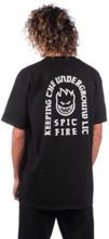 Spitfire Steady Rockin T-Shirt black w/ white discharge L