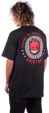 Spitfire Ktul T-Shirt black w/ red & white prin L