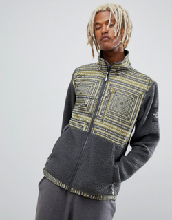 The North Face Denali Fleece in LCD Print - Black