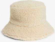 Faux fur bucket hat - Beige