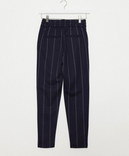 Only Petite trousers in navy pinstripe-Multi