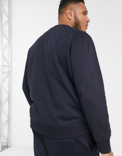French Connection Essentials Plus sweatshirt with logo-Navy
