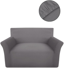 vidaXL Sofföverdrag med stretch grå bomullsjersey
