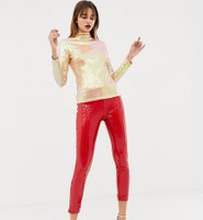 Warehouse x Ashish - Röda leggings med paljetter - Röd