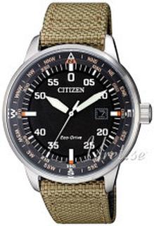Citizen BM7390-14E Eco Drive 180 Sort/Tekstil Ø42 mm