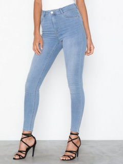 Gina Tricot Molly High Waist Jeans Lys blå