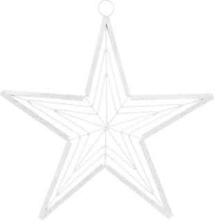 House Doctor - Genna Juledekorasjon, Hvit/Sølv