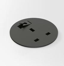 Powerdot MIDI UK 1 El med 1 Genomföringshål, Svart