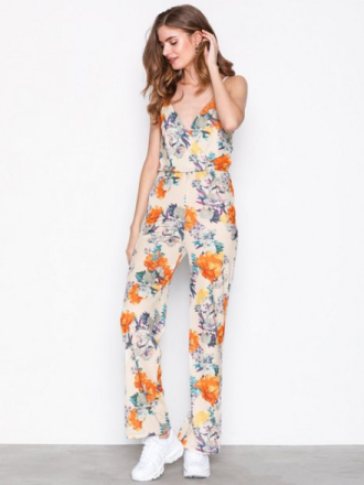 NLY Trend Strappy Print Jumpsuit Blomstrete