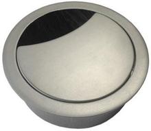 Bordsgenomföring med borst, Ø 60 mm Borstad stål