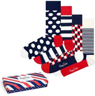 Happy socks 4-pak Stripe Socks Gift Box * Fri fragt på ordrer over 349 kr *