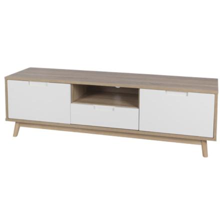 Nora Tv Bord hvid/træ - Bredde 150 cm