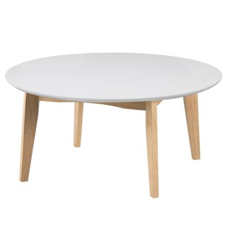 Nordic Rundt hvidt sofabord Ø80