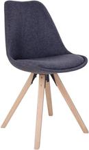 Elva Spisebordsstol - Polstret Mørkegrå