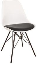 Comfort Spisebordsstol hvid - Sort sæde