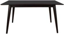 Sort spisebord 150/230 cm med 2 stk tillægsplader (Ekstra slidstærk bordplade) - Nora