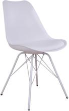 Comfort spisebordsstole hvid - Hvide ben