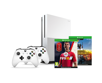 Xbox One S 1TB + Wireless Controller + FIFA 18 incl. World Cup + PlayUnknowns Battlegrounds