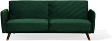 Sohva samettinen vihreä SENJA