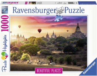 Ravensburger Pussel Luftballonger över Myanmar 1000 bitar Beautiful Places